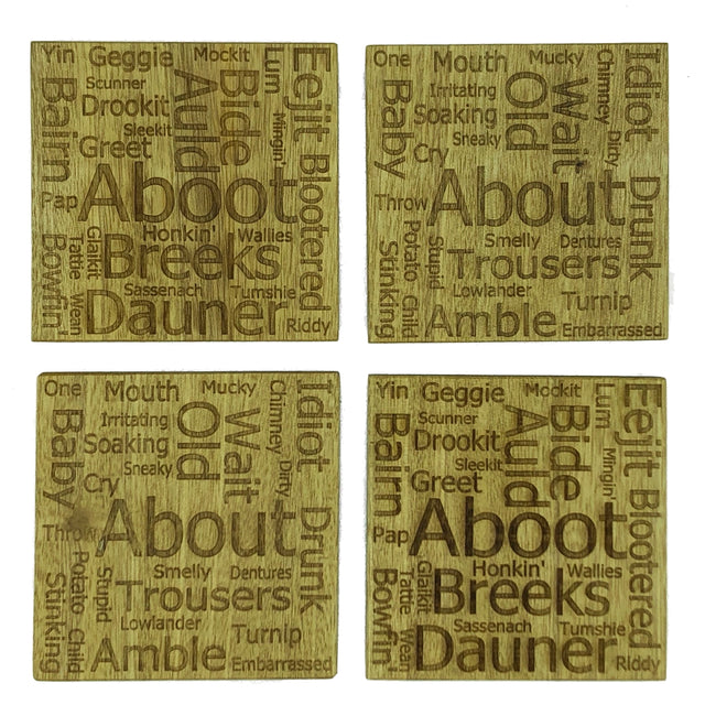 Coasters - square, Scots / English