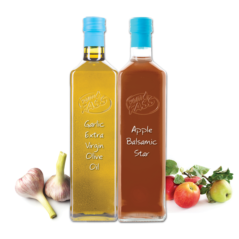 Garlic Extra Virgin Olive Oil & Apple Balsamic Vinegar Marasca Set