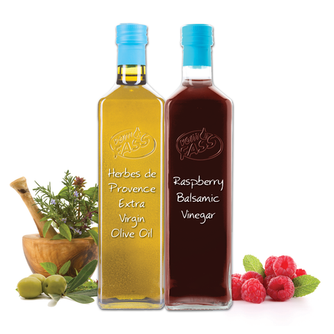 Herbes de Provence Extra Virgin Olive Oil & Raspberry Balsamic Vinegar Marasca Set