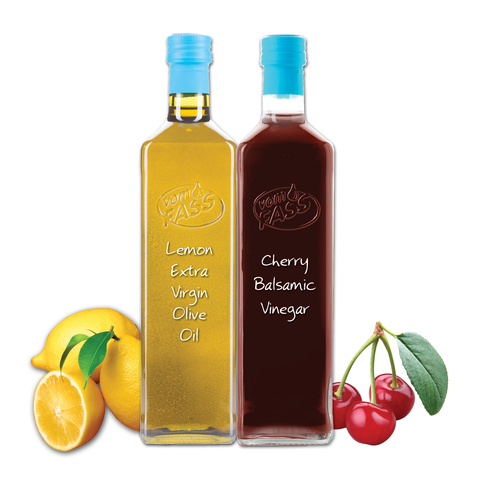 Lemon Extra Virgin Olive Oil & Cherry Balsamic Vinegar Marasca Set