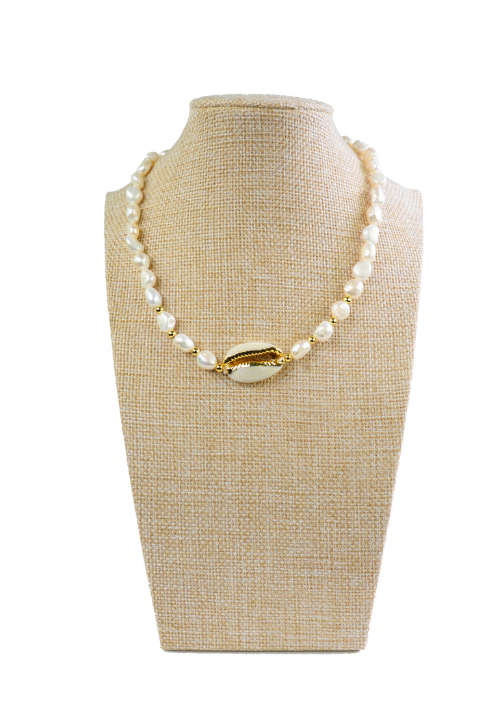 PEARL AND SHELL NECKLACE