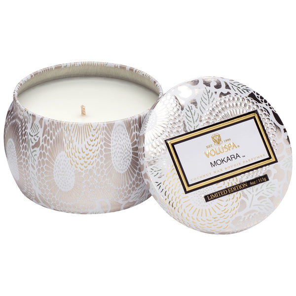 Voluspa Yashioka Gardenia 3 Wick Limited Edition Candle Decorative Tin 12 oz