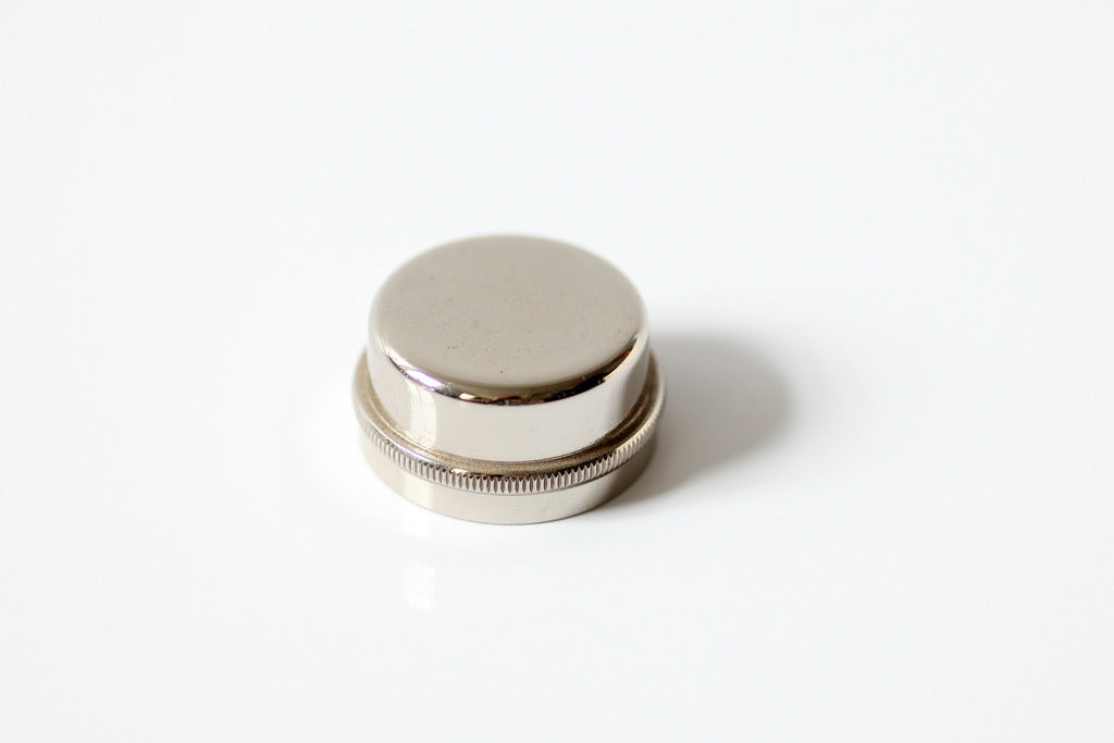 Heavy valve cap for French Horn nickel plated