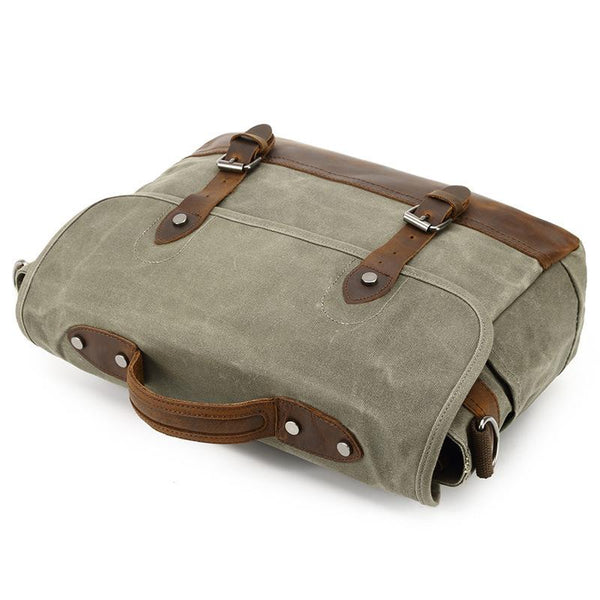 a03f24bde212 ... Mens Waterproof Canvas Shoulder Bags Pure Cotton Oil Wax Canvas  Messenger Bag ...