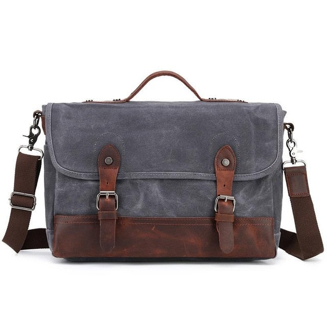 c0ff4e28f7c0 ... Mens Waterproof Canvas Shoulder Bags Pure Cotton Oil Wax Canvas  Messenger Bag