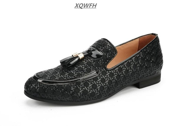 6ec6a467d6455 Men Shoes luxury Brand Braid Leather Casual Driving Shoes Men Loafers Italian  Shoes For Men Flat