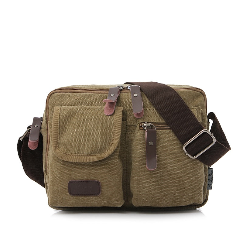 98d53ea56a18 Vintage Ladies Canvas Small Messenger Bag Men Casual Crossbody Bags For  Women Satchel Leisure Men Male ...