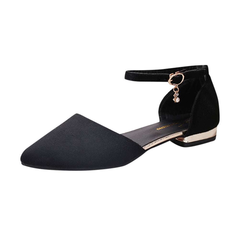 5a364fd6c87a ... Ladies Women s Shoes Fashion Pointed Toe Casual Shoes Low Heel Flat  Shoes ...