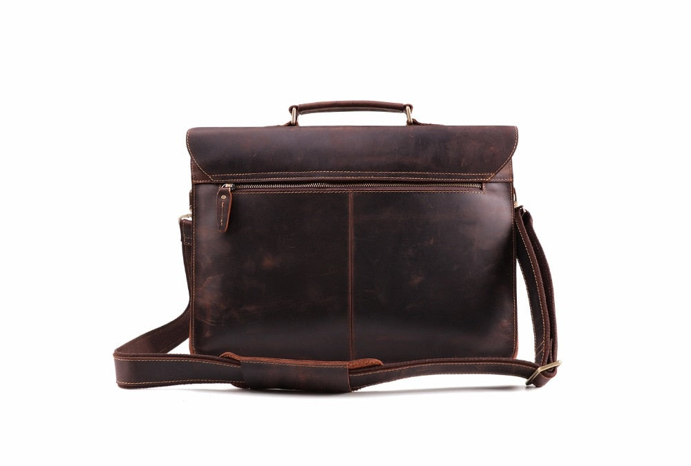c330c7434e64 ... Shoulder Bag  Crazy Horse Genuine Leather Men s Briefcase Vintage  Messenger Shoulder ...
