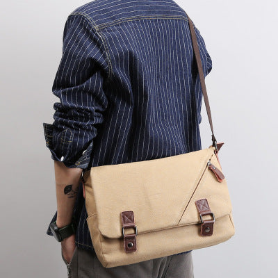 70e122ad1d ... Men Messenger Bags Canvas Leather Men s Handbags Travel Duffel Shoulder  Bags Vintage Male Briefcase for School ...