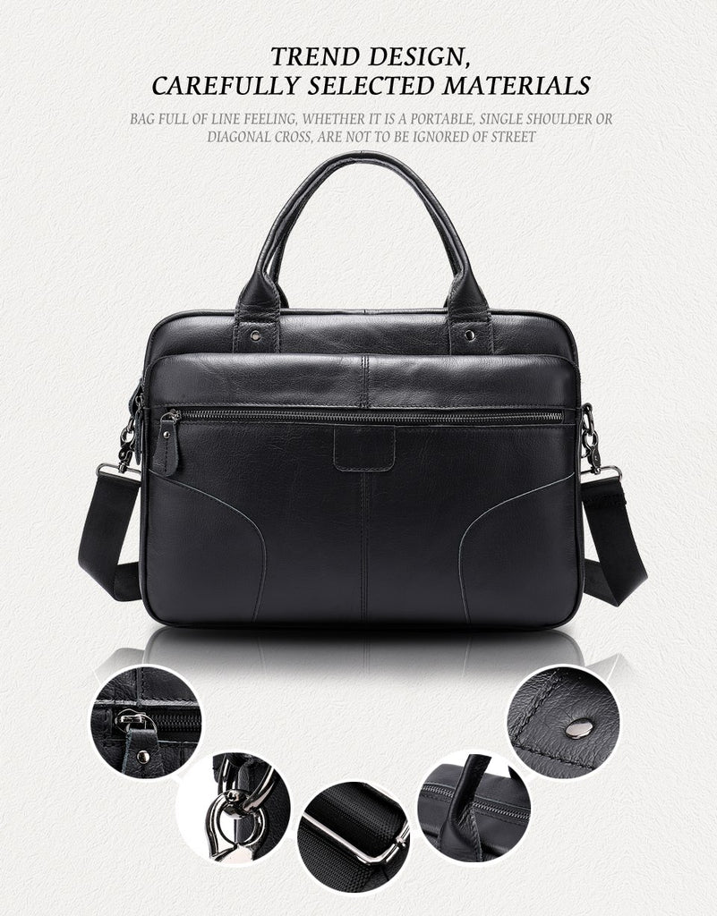 12452bd1b2b0 Men s Bags Genuine Leather Briefcase Male Computer Bags For Men
