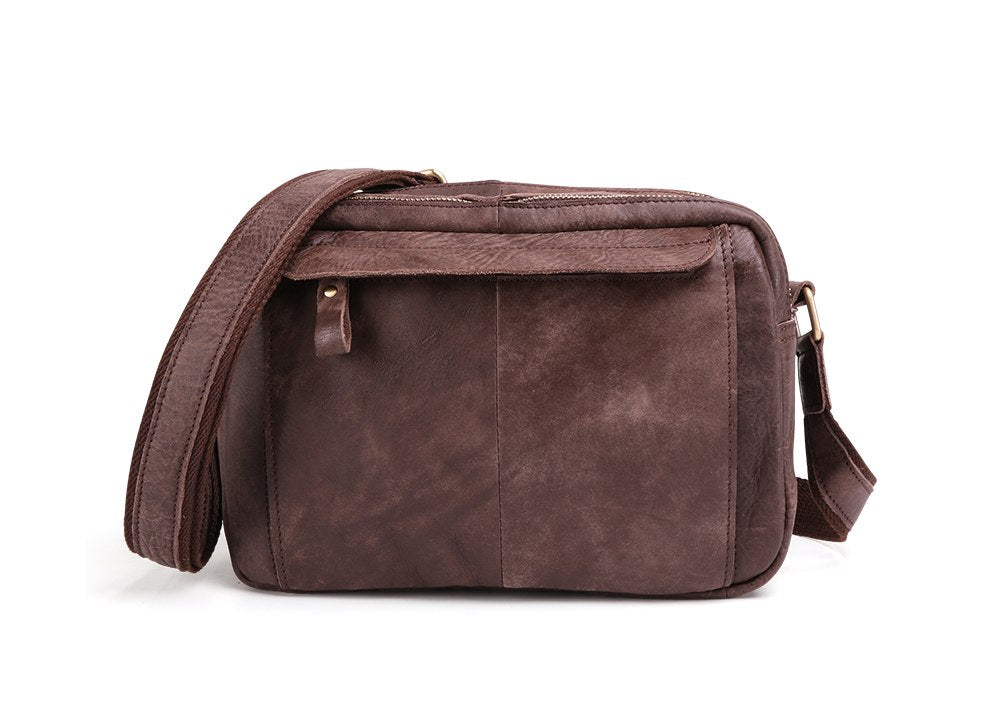 00aff1472a3c ... Cow Genuine Leather Crossbody Bag Vintage Men Messenger Bags Small ipad Shoulder  Bag Casual Travel Street ...