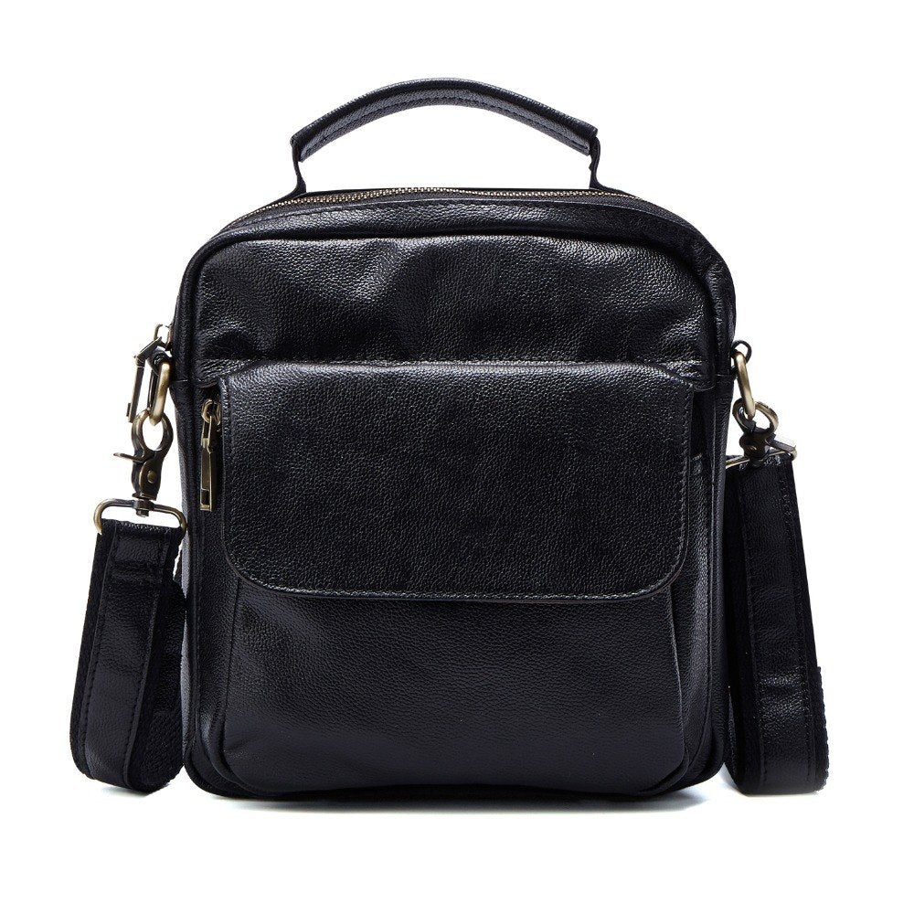 ... Genuine Leather Shoulder Bags Fashion Men Messenger Bag Small ipad Male  Vintage New Crossbody Bags Men s b4269d1b32886