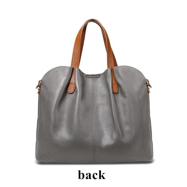 women handbag hit color Lady Genuine leather sub-bag large bag 5b337e21abcda