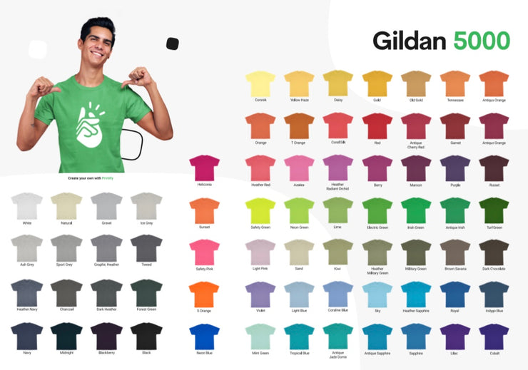 100 White Tees With a 1 Color Screen Print (Any Color Print) @ $5 Each