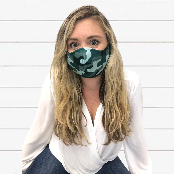Camo Adjustable Adult Face Mask