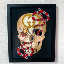Load image into Gallery viewer, Gucci Inspired Skull and Snake Print