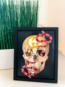 Gucci Inspired Skull and Snake Print
