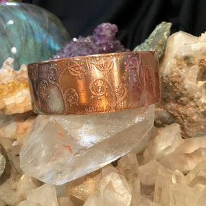 Copper & Resin Art Bracelet