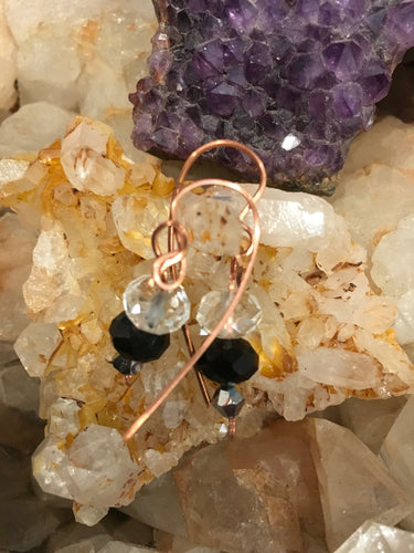 Crystals & Copper Earrings