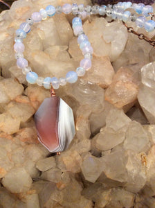 Agate, Moonstone, Sunstone and Opalescence Necklace