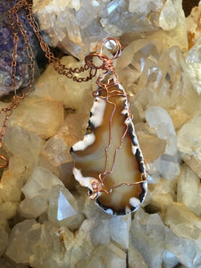 Agate & Copper Necklace