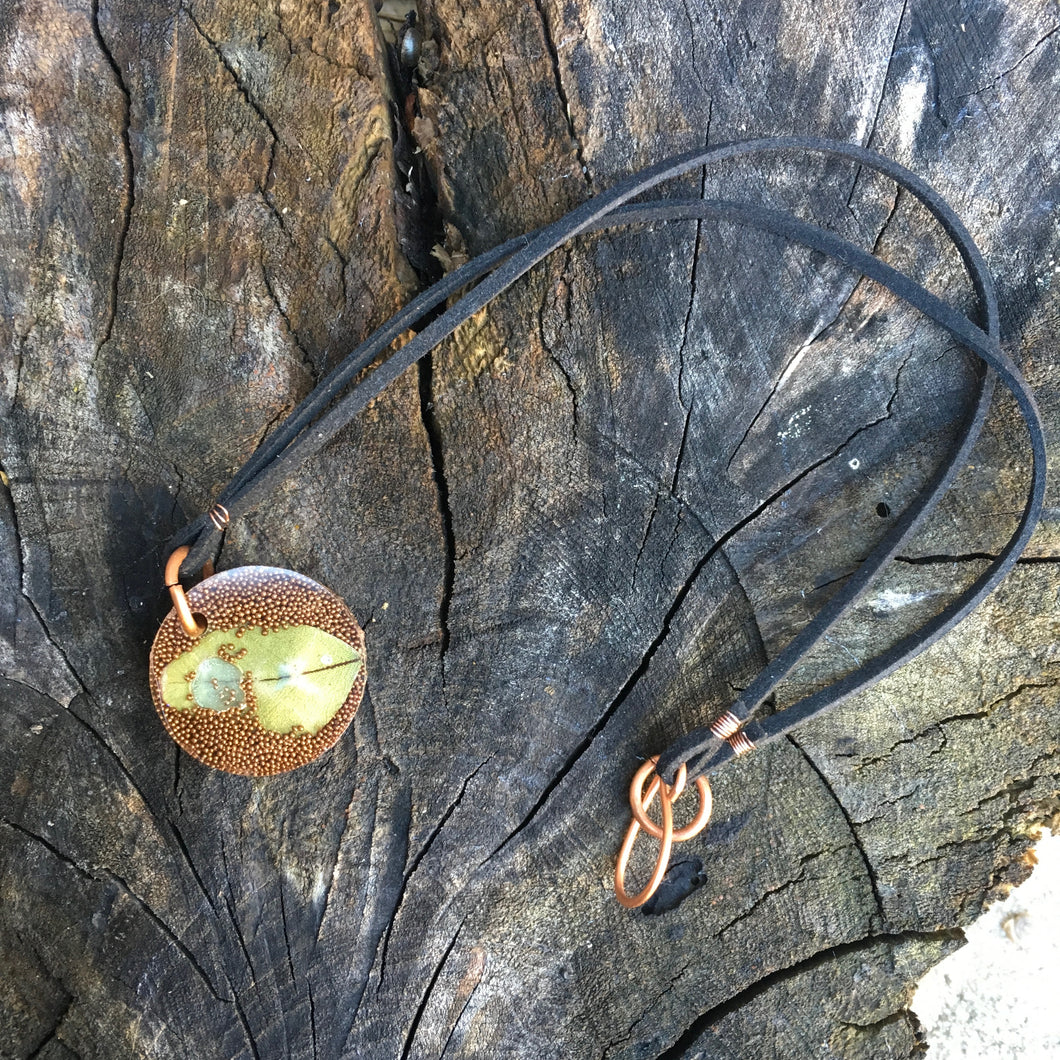 Resin & Leather Necklace