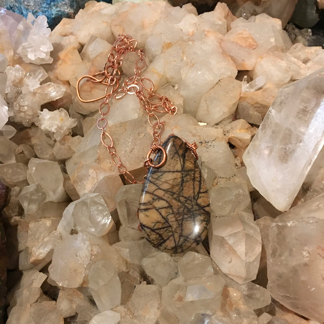 Picture Jasper & Copper Necklace