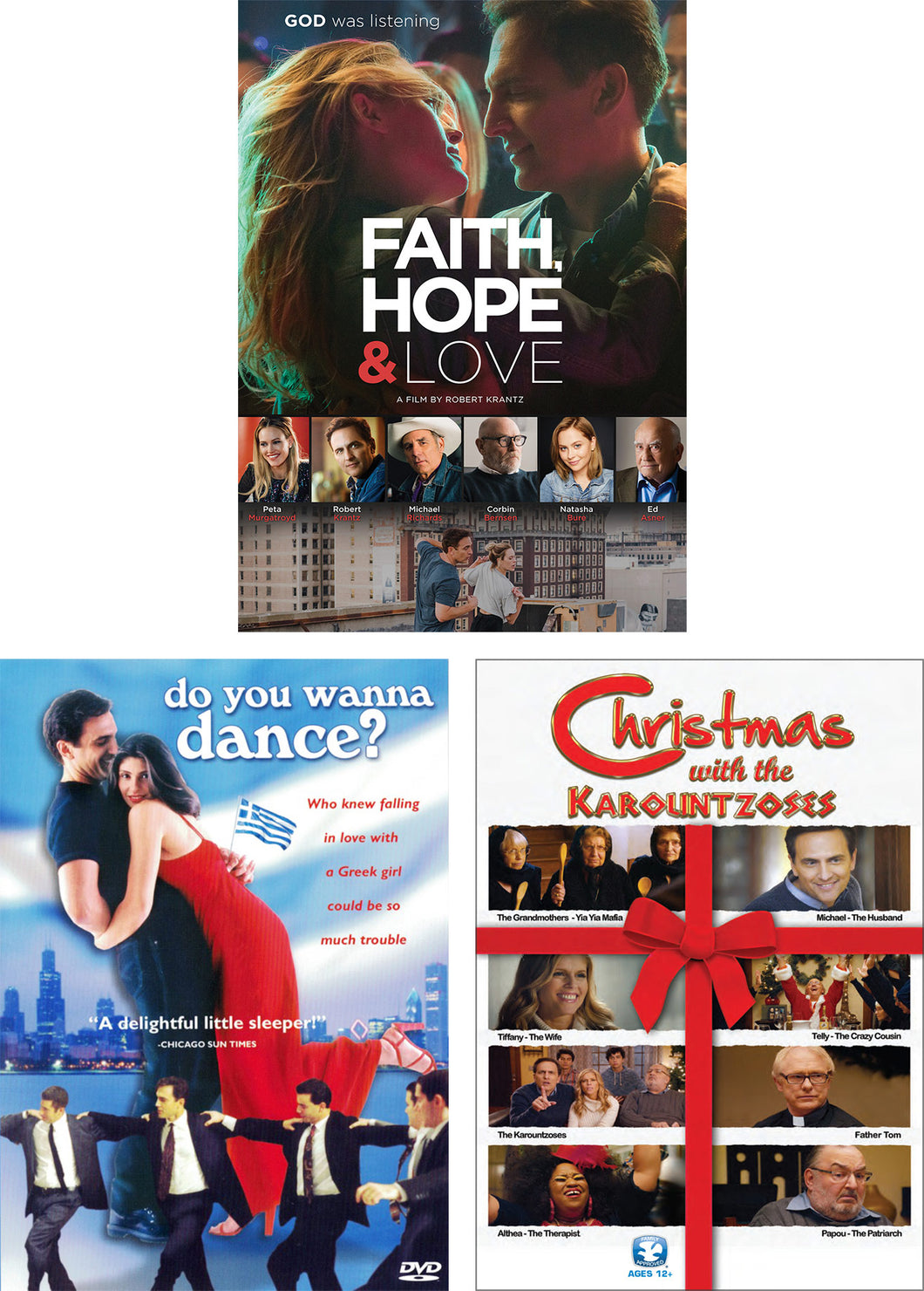 Faith, Hope & Love / Do You Wanna Dance? / Christmas With The Karountzoses - DVD 3-Pack