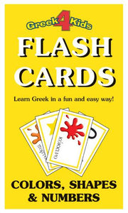 greek flash cards colors shapes numbers