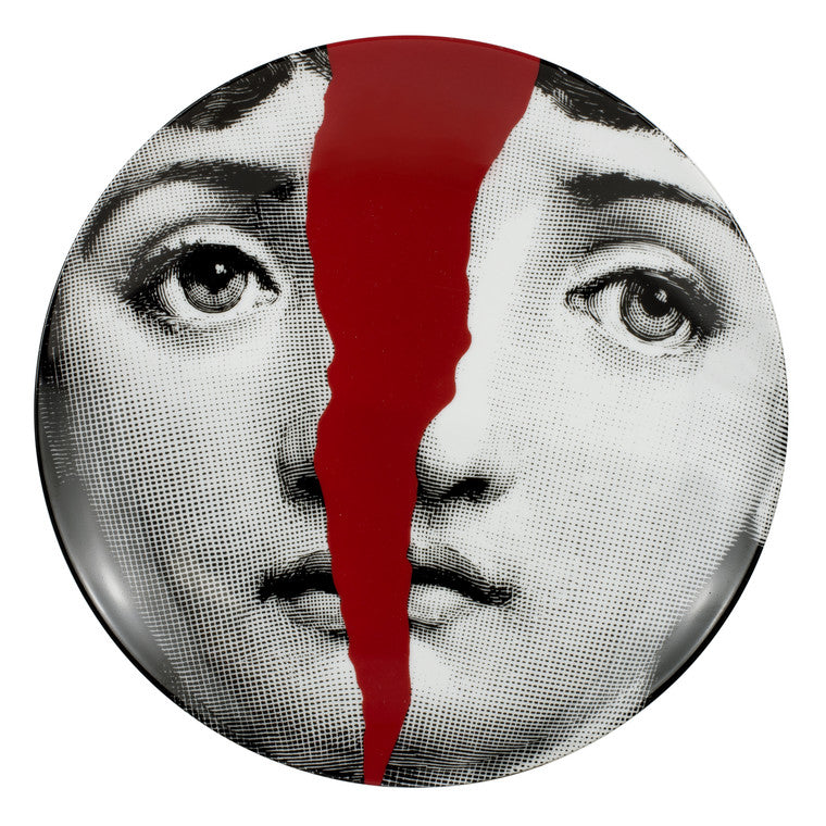 Fornasetti Wall Plate #010 Red