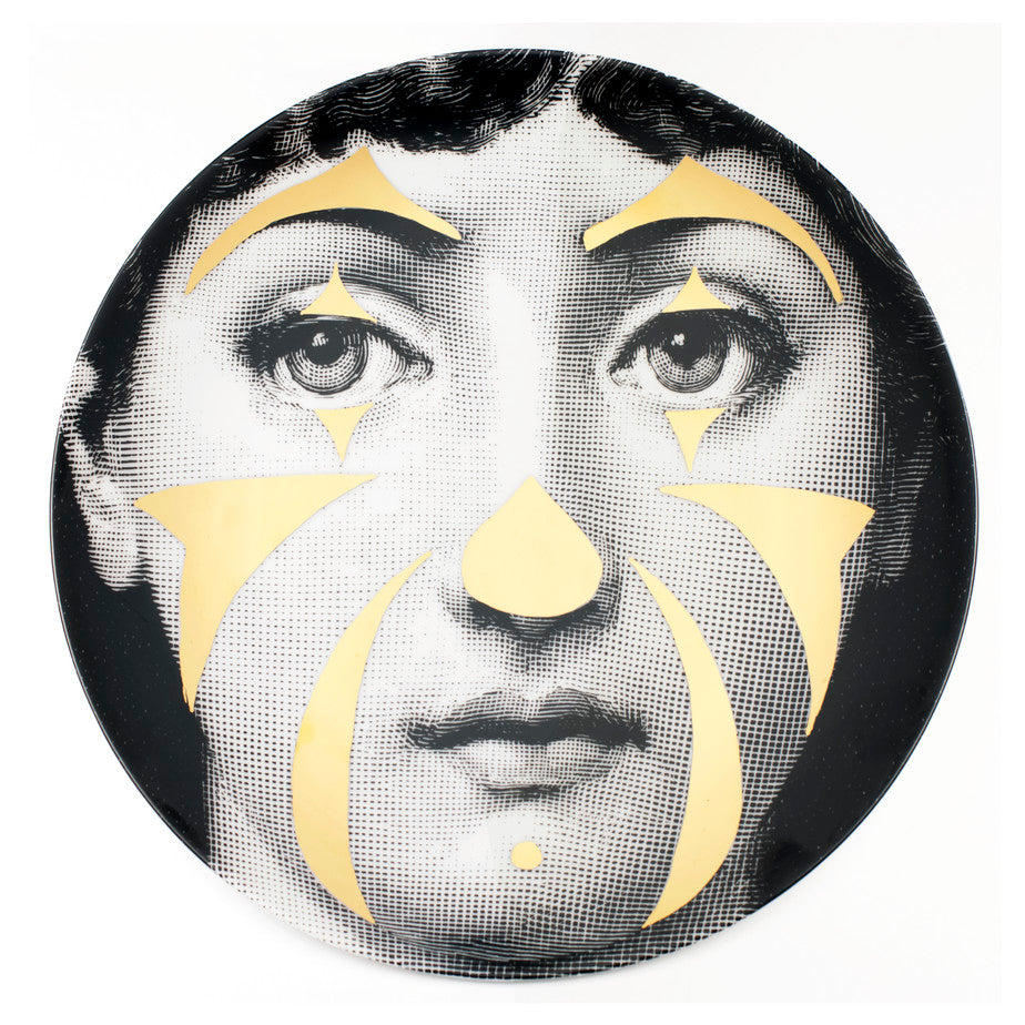 Fornasetti Wall Plate #122 Gold