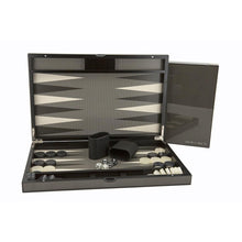 "Load image into Gallery viewer, Dal Rossi Carbon Fibre Finish 18"" Backgammon Set"