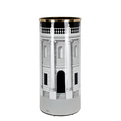Fornasetti - Umbrella stand Casa con Colonne black/white