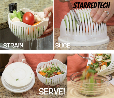 3 in 1 Easy Salad Cutter Bowl