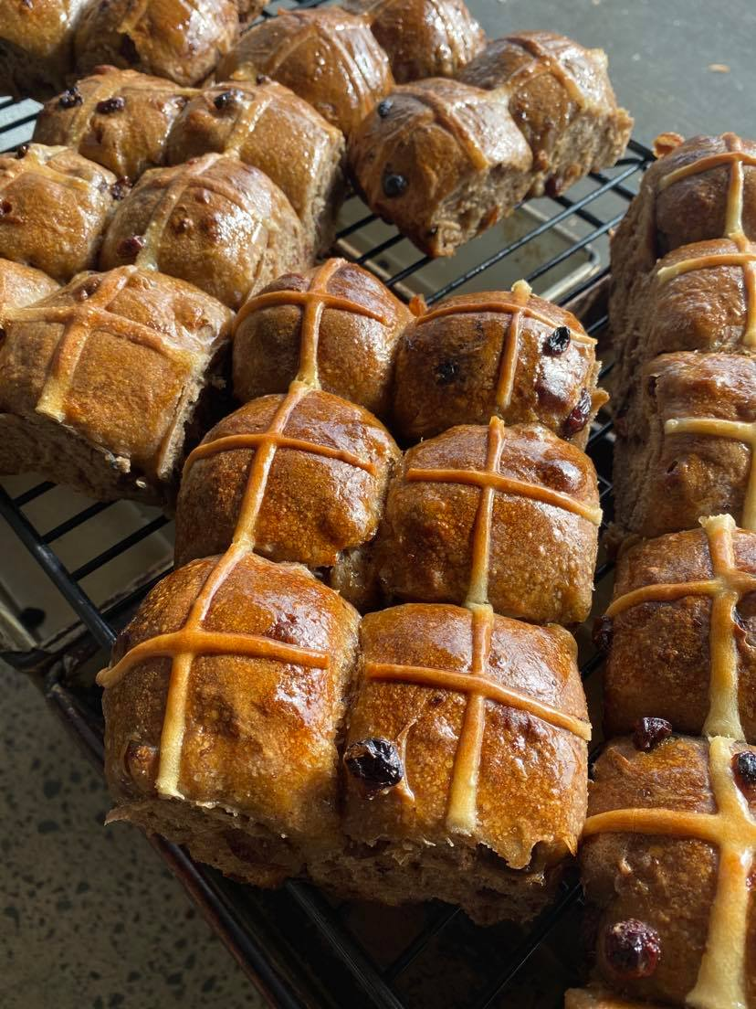 Organic Hot Cross Buns