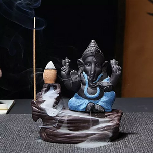 Lord Ganesh Backflow Incense Burner Holder