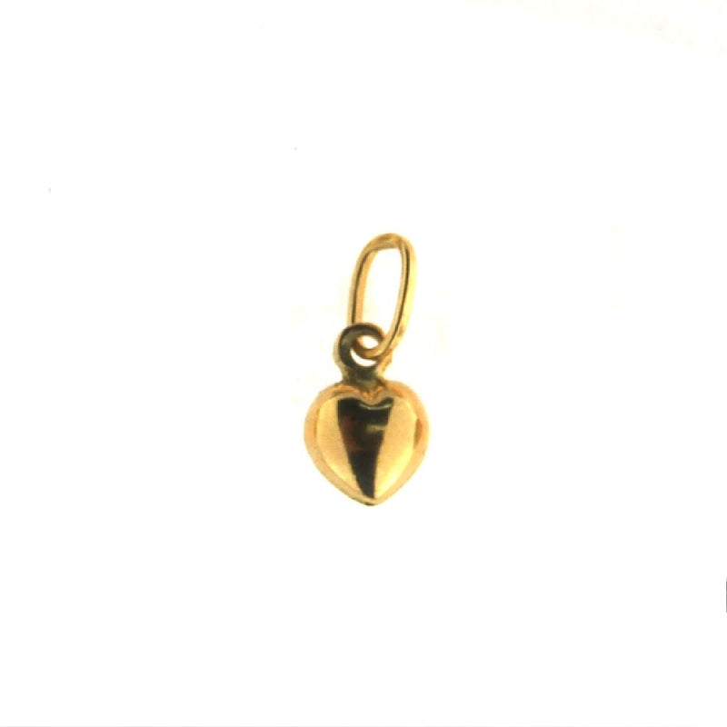 18K Solid Yellow  Gold Polished Tiny Puffy  Small Heart  Pendant 0.22 x 0.24  x 0.14Amalia J. & Boutique Charms
