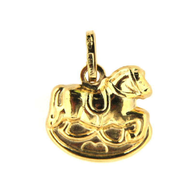 18K Yellow Gold Rocking Horse Charm  (14mm/17mm with Bail)Amalia J. & Boutique Charms