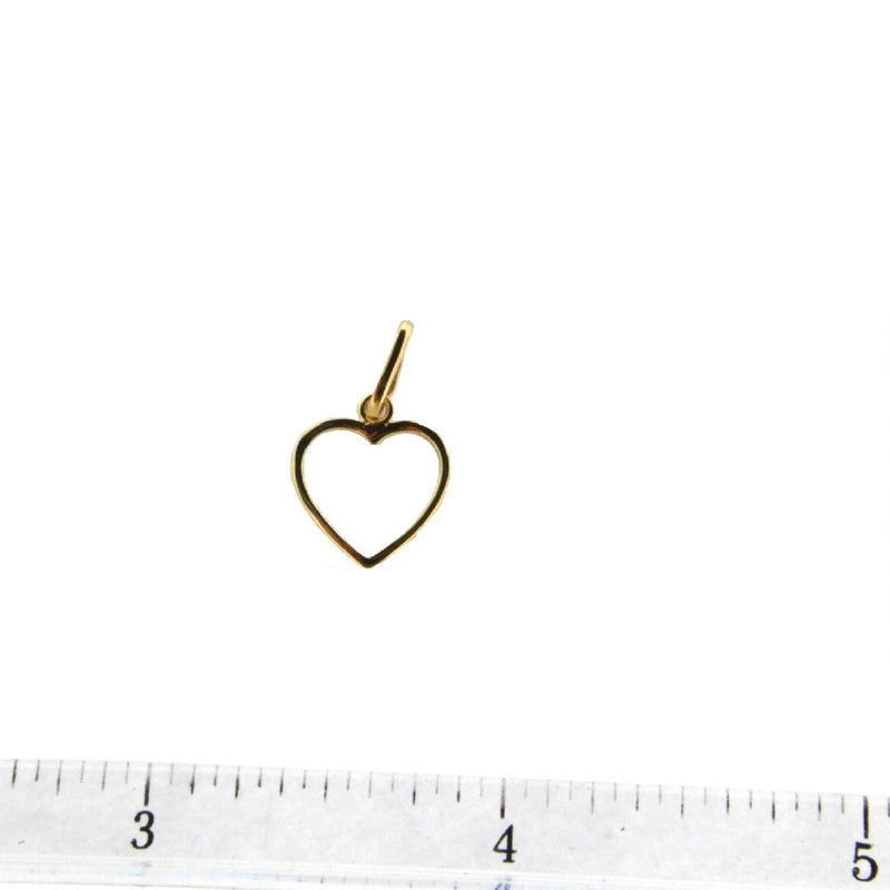 18K Yellow Gold Open Heart (11mm X 11mm/18mm with Bail)Amalia J. & Boutique Charms