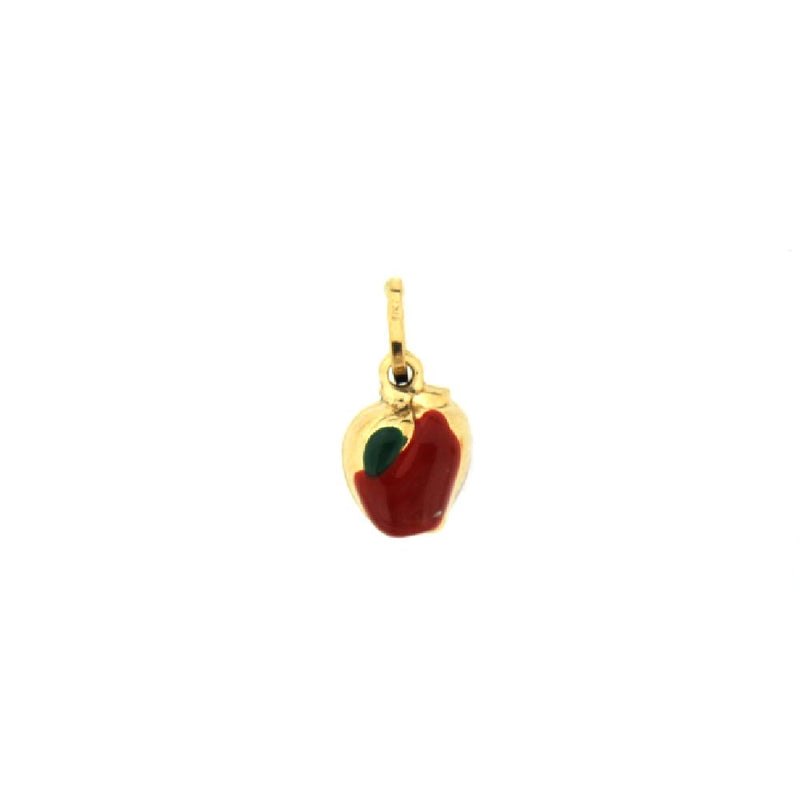 18K Yellow Gold Enamel Apple Charm (7mm/12mm with Bail)Amalia J. & Boutique Charms