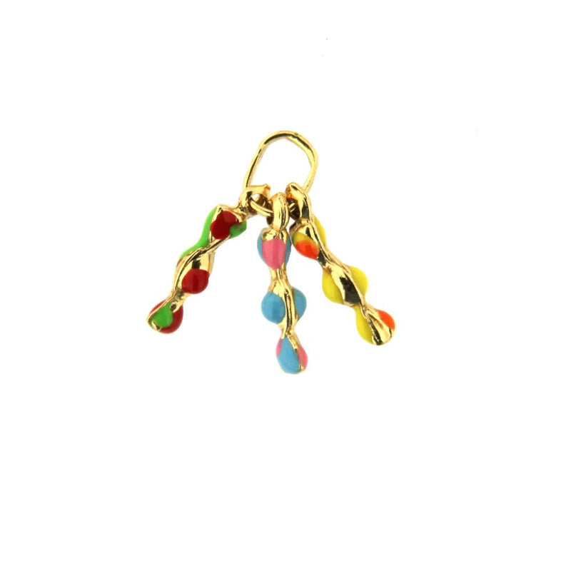 18K Yellow Gold Enamel Candies Charm (13mm With Bail)Amalia J. & Boutique Charms