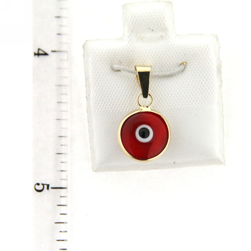 18K Yellow Gold Eye Charm assorted (9mm/15mm with Bail)Amalia J. & Boutique Charms