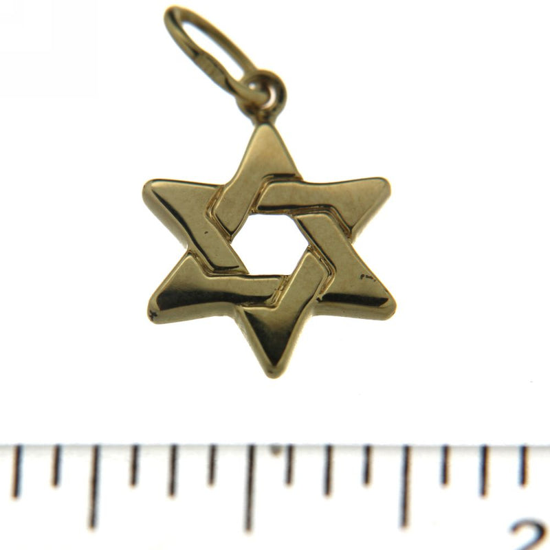 18KT Yellow Gold Star of David Charm 3/4 inchAmalia J. & Boutique Charms