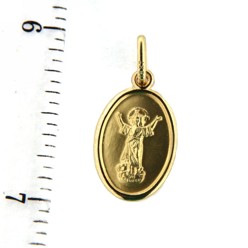 18kt Yellow Gold DiVino Nino Charm (17mm X 12mm/23mm with Bail)Amalia J. & Boutique Charms