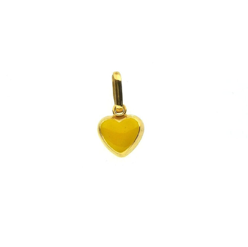 18Kt Yellow Gold Yellow Heart Charm Solid (8mm/14mm with Bail)Amalia J. & Boutique Charms
