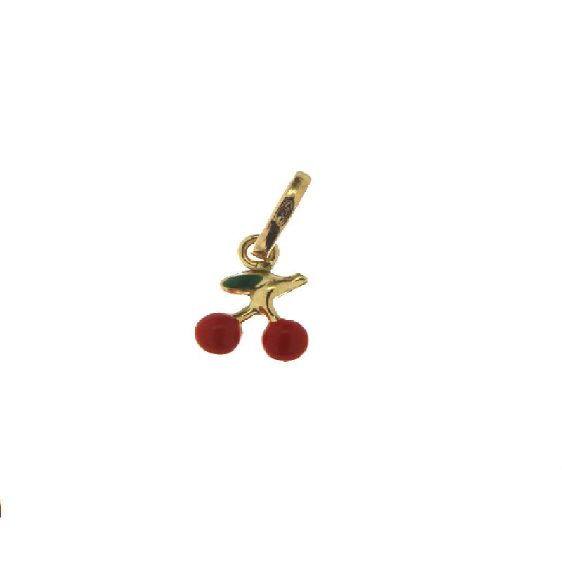18KT Yellow Gold Red Enamel Cherry Charm 6mmAmalia J. & Boutique Charms