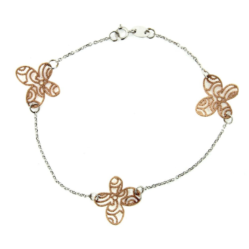 18 KT White Gold and Pink Gold  butterfly braceletAmalia J. & Boutique Bracelets