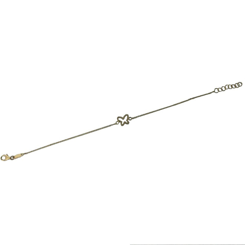 18K yellow gold open butterfly bracelet 7 inches with extra rings starting at  6.25 inchesAmalia J. & Boutique Bracelets
