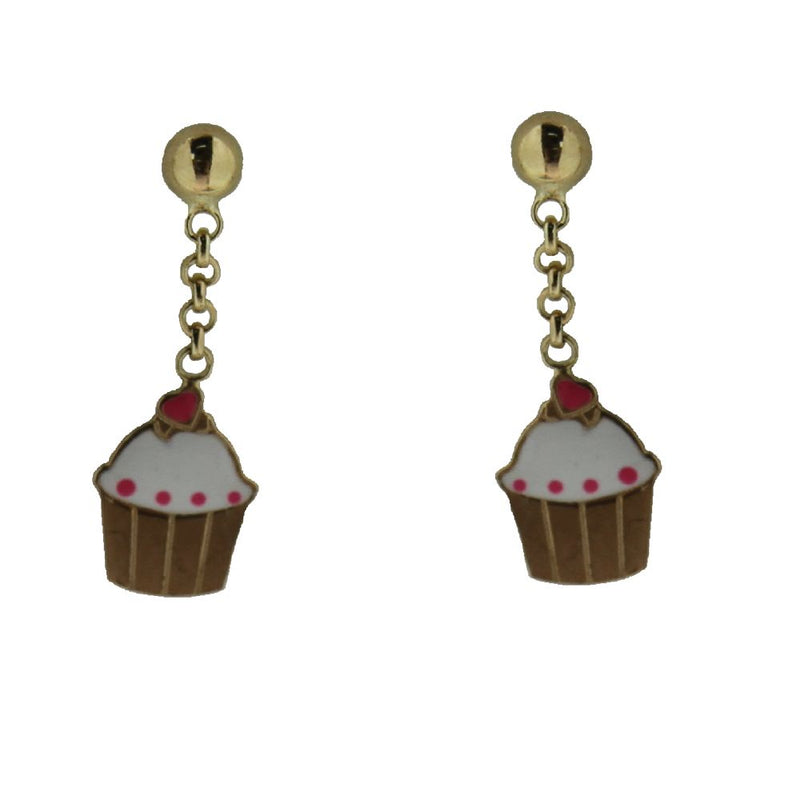18Kcupcake enamel dangle earrings 0.50 inchAmalia J. & Boutique Earrings
